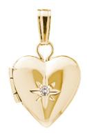 M394A Diamond Heart Locket