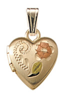 M422A Hand Engraved Locket Necklace