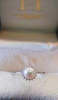 Pearl/Diamond Halo Ring