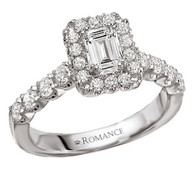 1.44cttw Emerald Cut Wedding Set