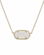 Kendra Scott Elisa Necklace Gold Tone Iridescent Drusy