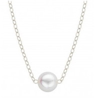 Add-A-Pearl Necklace (SINGLE 5MM) Sterling Silver