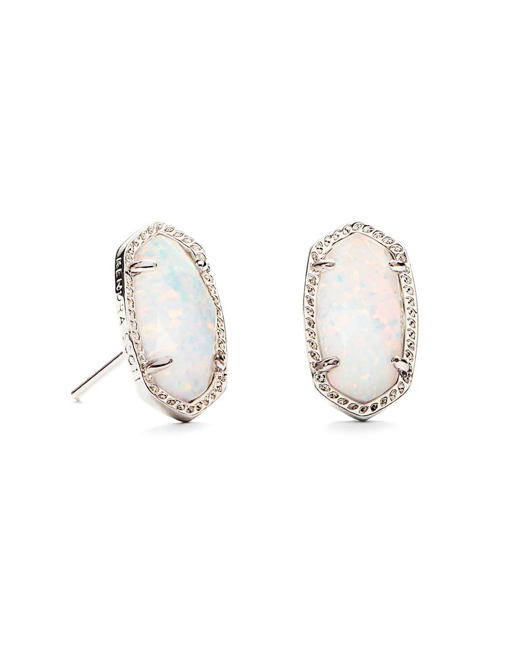 c0cbcab62af744 Kendra Scott Ellie Earring Rhodium/White Kyocera Opal. Price: $95.00. Image  1
