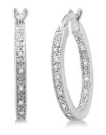 .10cttw Diamond Hoop Earrings