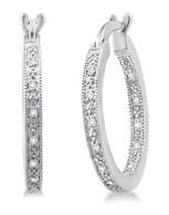 .10cttw Diamond Hoop Earrings