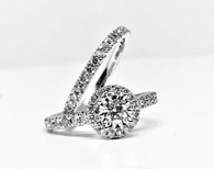 1.02cttw Diamond Engagement Set