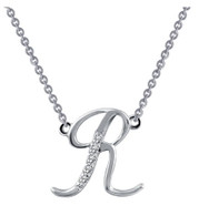"9N074CLP18 ""R"" Initial Necklace"