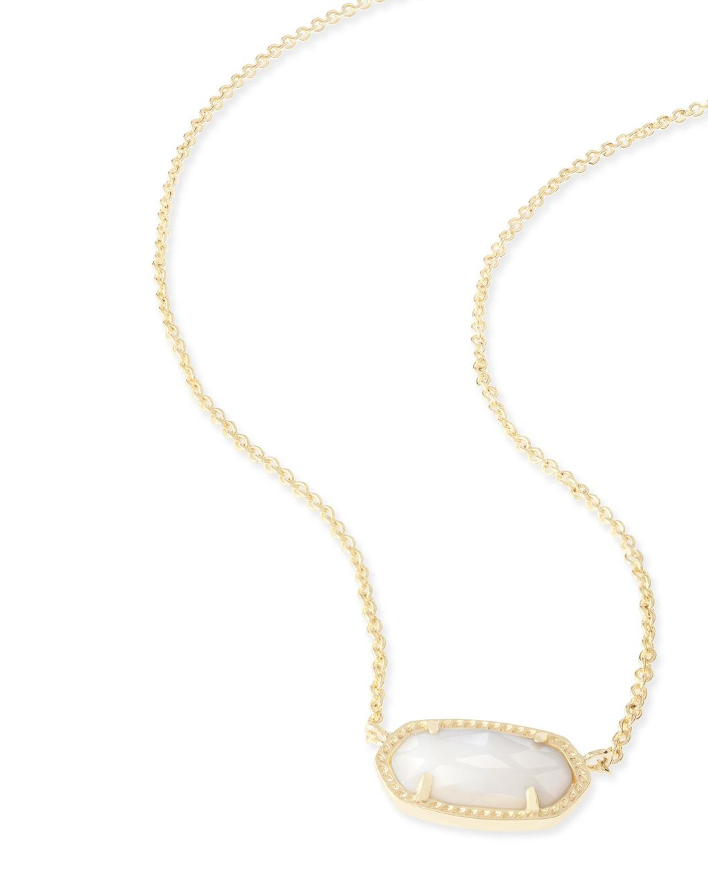 baa5bb0b34757b Kendra Scott Elisa Gold Pendant Necklace in White Pearl. Price: $50.00.  Image 1