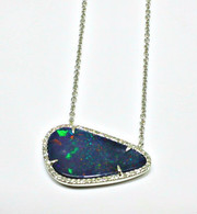 Black Boulder Opal Necklace