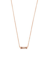 Kendra Scott Rufus Necklace Rose Gold Tone/Blush Crystal