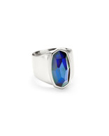 Kendra Scott Leah Ring Rhodium/Mood Ring Size 6