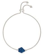 Kendra Scott Theo Bracelet Rhodium/Blue Drusy