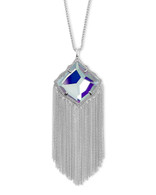 Kendra Scott Kingston Necklace Rhodium/Dichroic Glass