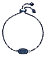 Kendra Scott Elaina Bracelet Navy Gunmetal/Blue Drusy