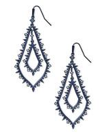 Kendra Scott Alice Earring Navy Gunmetal/Lilac Crystal