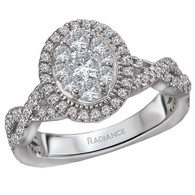 Oval Radiance Infinity Engagement Ring