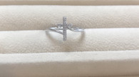 Diamond Bypass Cross Ring