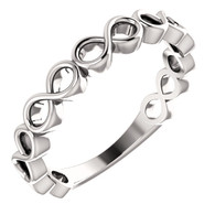 Infinity Inspired Stackable Ring