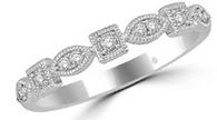Bezel Style Stackable Diamond Ring