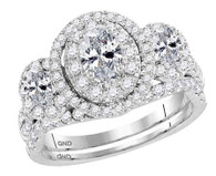 1.50cttw Oval Wedding Set