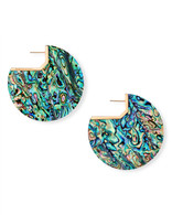 Kendra Scott Kai Earring Rose Gold Tone/Abalone Shell