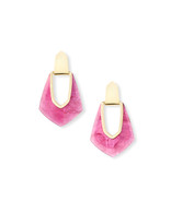 Kendra Scott Kensley Earring Gold Tone/Azalea Illusion