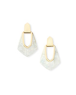 Kendra Scott Kensley Earring Gold Tone/Ivory Mother of Pearl