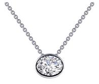 N0127CLP18 - Oval Cut Bezel Necklace