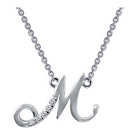 "9N071CLP18 ""M"" Initial Necklace"