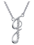 "9N068CLP18 ""J"" Initial Necklace"