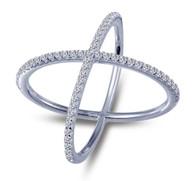 "Lafonn ""X"" Ring R0171CLP08"