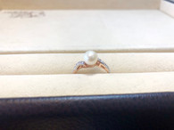 10K Rose Gold Freshwater Pearl Ring