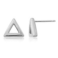 8mm Open Triangle Stud Earrings