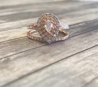 1.00cttw Rose Gold Pear Engagement Ring