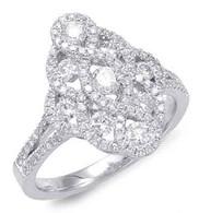 1.11cttw Diamond Fashion Ring