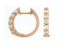 1.0ct Diamond Hoop Earrings