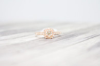 Round Engagement Ring with Cushion Halo