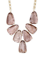 Harlow Gold Statement Necklace in Sable Mica