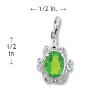 August Birthstone Charm