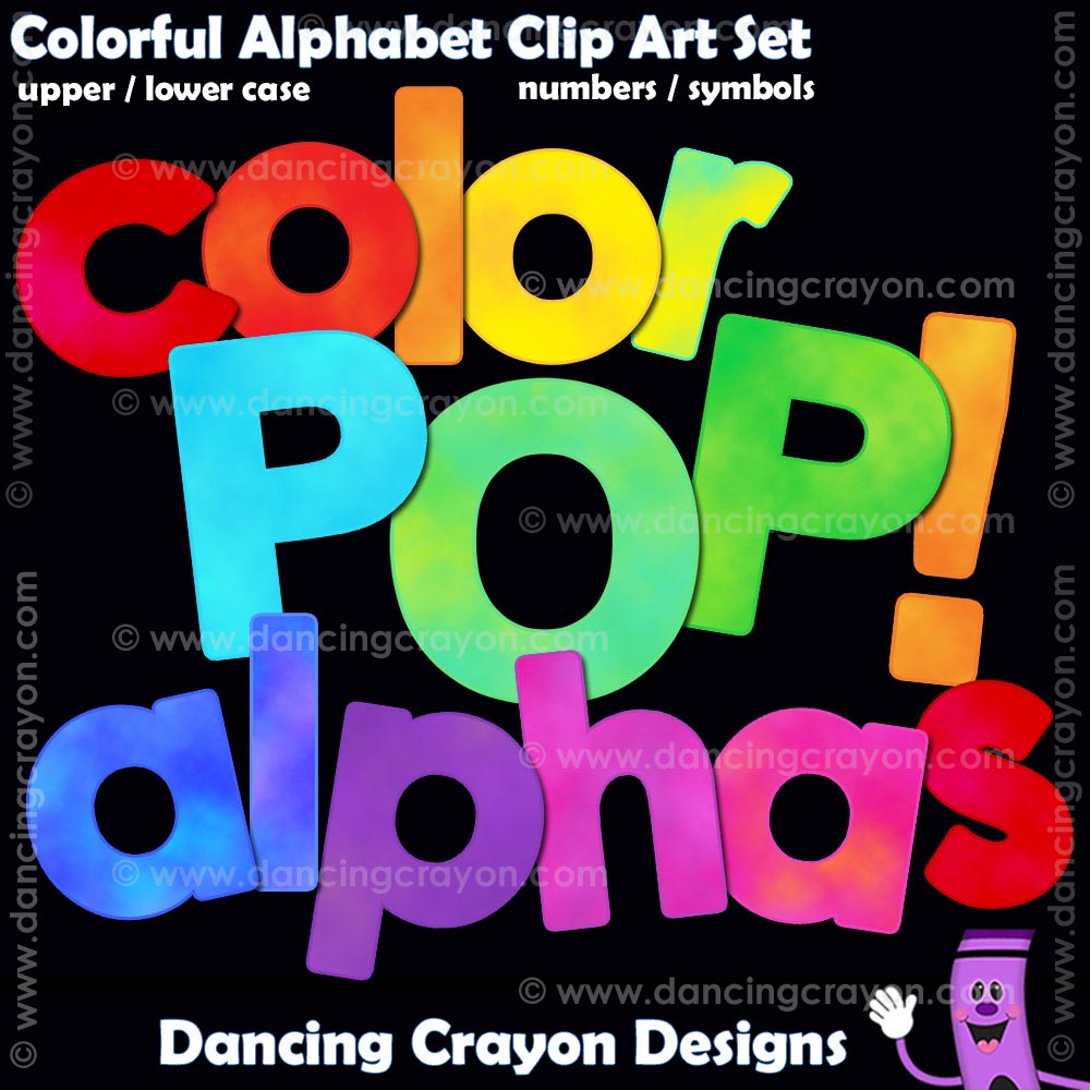 colorful alphabet clip art