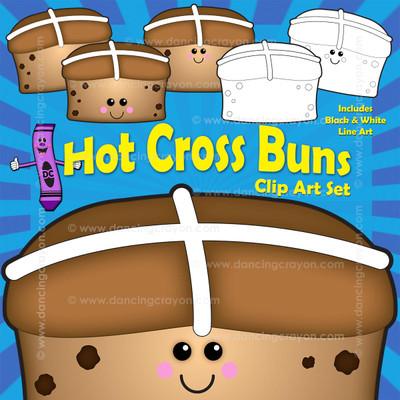 Hot cross bun clipart