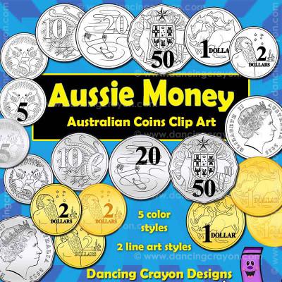 Australian money: Australian coins clipart