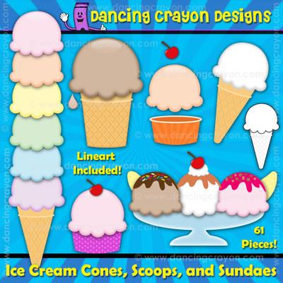 Ice cream clipart set: Create your own ice cream.