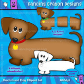 puppy clipart: dachshund dog clipart