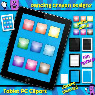 Tablet PC clip art frames