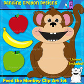 Feed the Monkey - Clipart Set