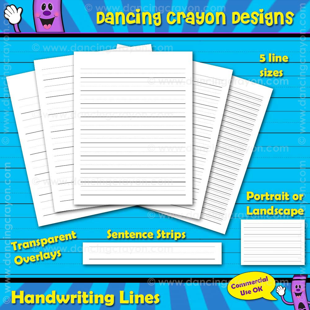 graphic about Printable Sentence Strips named Totally free handwriting strains and sentence strips