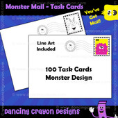 Blank task cards: monster mail