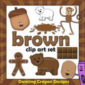 brown clipart - things that are brown color