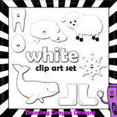 White clipart - things that are white